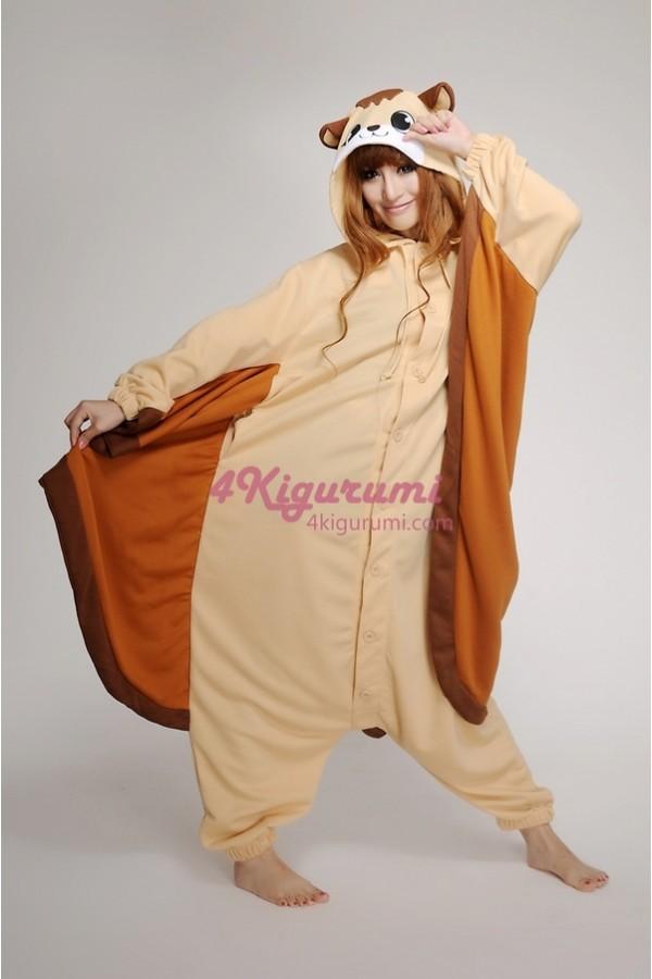 Flying Squirrel Onesie Animal Costumes Kigurumi Pajamas