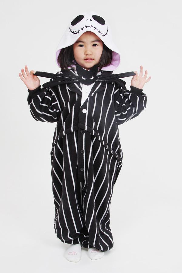 3e5555637a Kids Jack Skellington Onesie Kigurumi Pajamas - 4kigurumi.com