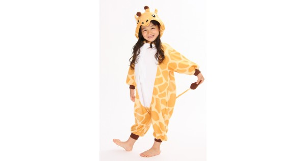 Giraffe Onesie for Adults and Teens. Halloween Animal Kigurumi Pajama Costume for Women,Men and Teenagers.