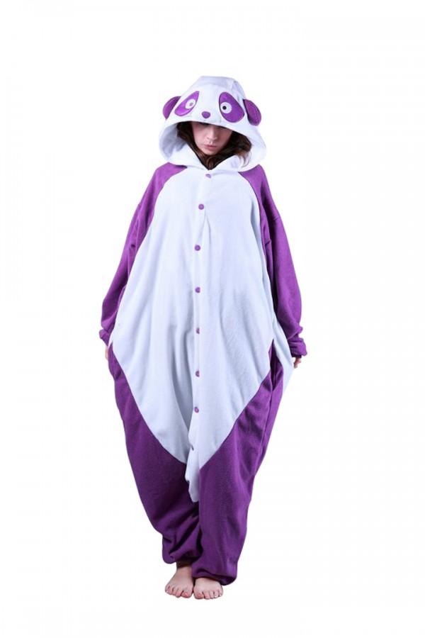 Purple Panda Onesie Kigurumi Pajamas 4kigurumi Com
