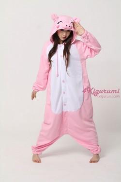 Fleece Pink Pig Kigurumi Animal Onesie