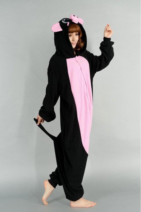 Fleece Black Pig Kigurumi Animal Onesie 4kigurumi Com