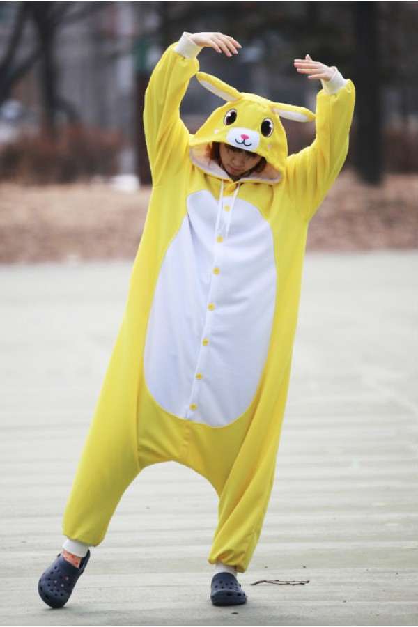 Yellow Rabbit Onesie Animal Costumes 4kigurumi Com