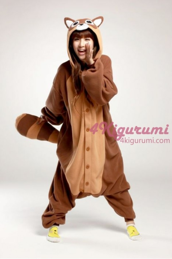 dab6be9ba3f Raccoon Onesie Animal Costumes Kigurumi Pajamas - 4kigurumi.com