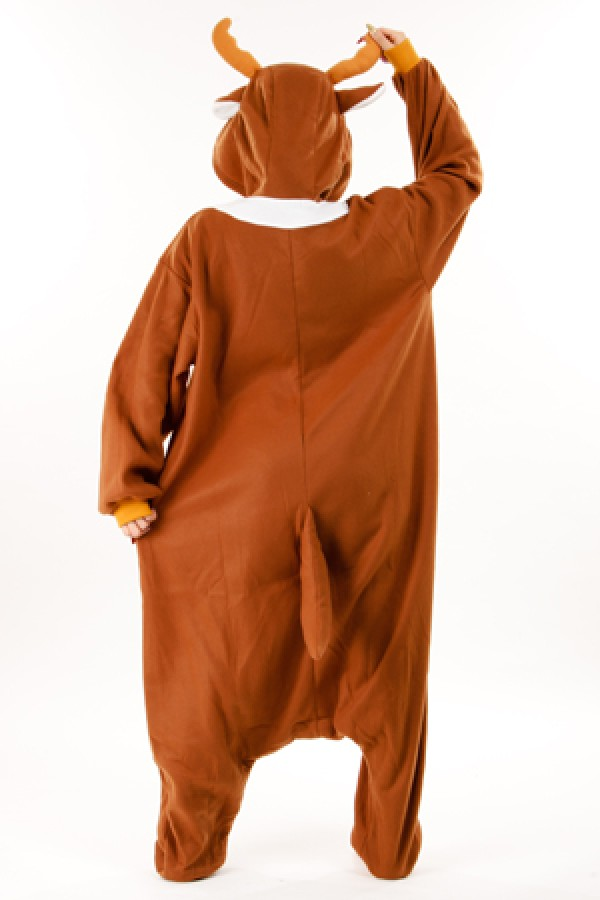 f3d5a39b361e Brown Reindeer Kigurumi Animal Onesie Christmas Costume - 4kigurumi.com