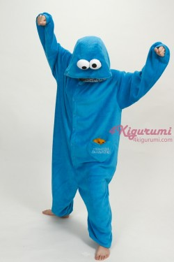 Sesame Street Cookie Monster Kigurumi Onesie