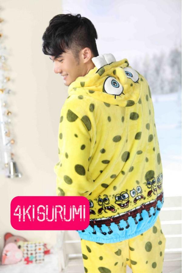 7bb8eac26c64 SpongeBob SquarePants Fleece Pajamas Set - 4kigurumi.com