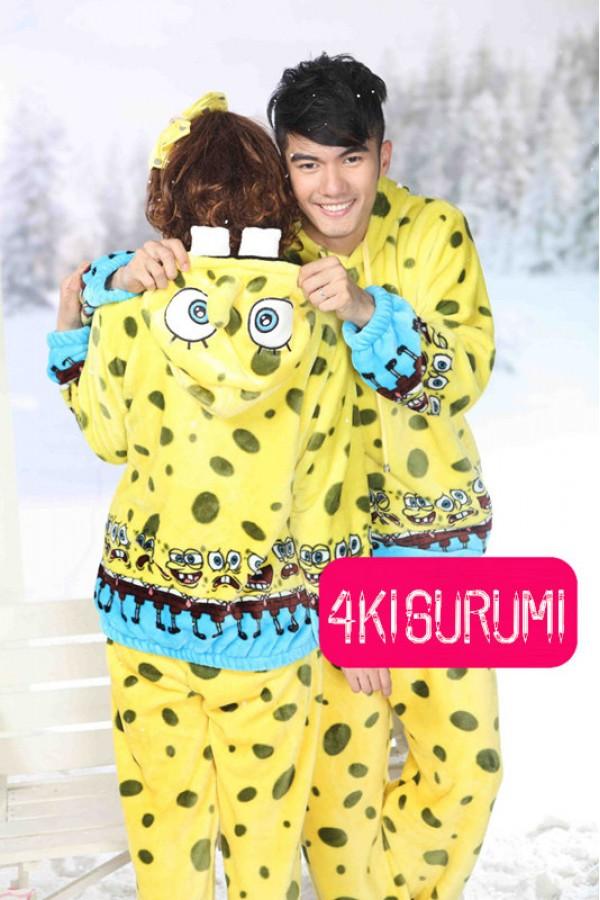 fc3e92423563 SpongeBob SquarePants Fleece Pajamas Set - 4kigurumi.com