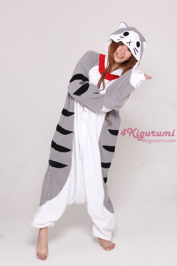 Sweet chi cat kigurumi onesie for Fish onesie for adults