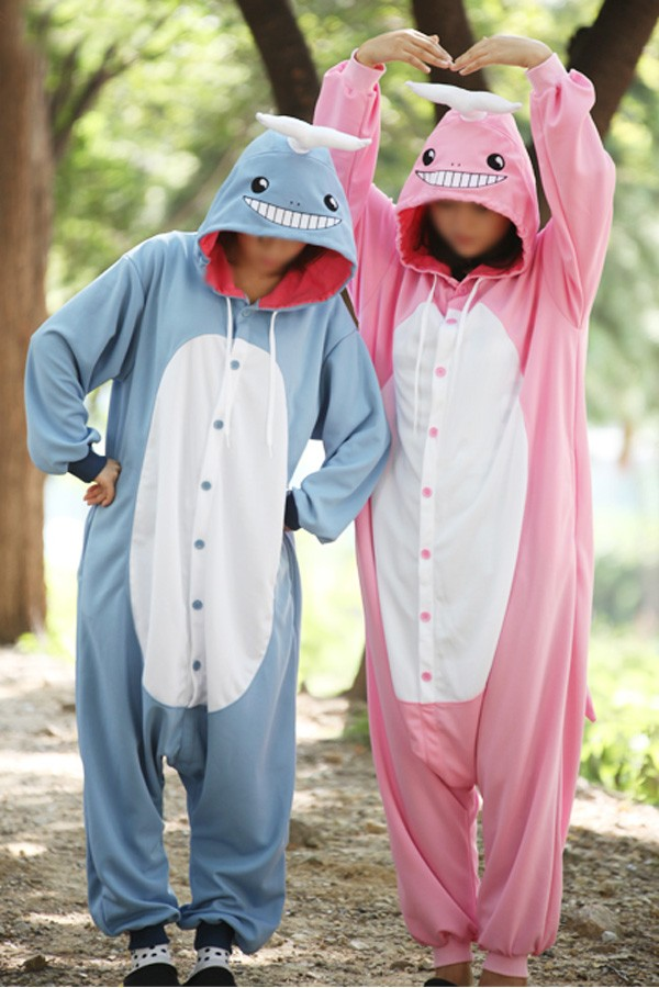 Pink Whale Onesie Halloween Costumes