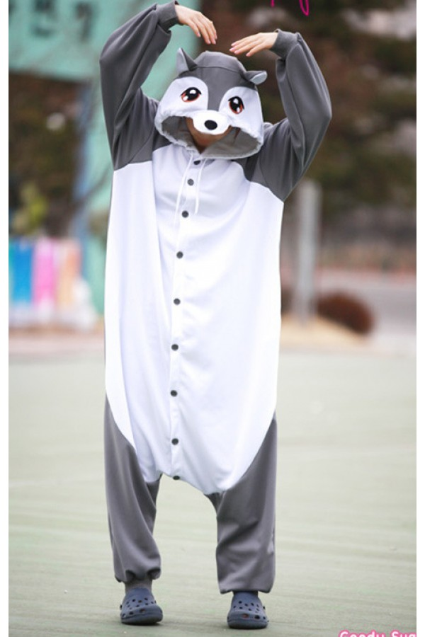 Gray Wolf Onesie Animal Costumes