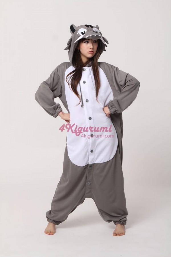 defb85e927a8 Grey Wolf Kigurumi Animal Onesie - 4kigurumi.com