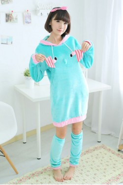 Elephant Kigurumi Cute Night Robe