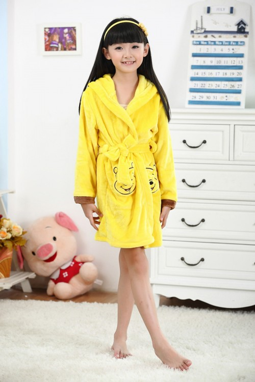 Winnie The Pooh Kids Bathrobe Disney Robes