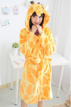 Giraffe Kigurumi Bathrobe Animal Robes