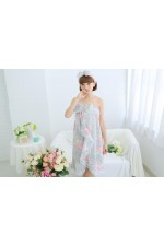 Gray Flower Bathrobe Women Robes