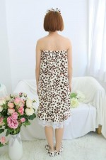 Leopard Love Bathrobe Women Robes