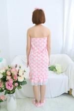 Pink Love Bathrobe Women Robes