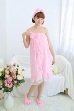 Pink Memories Bathrobe Women Robes