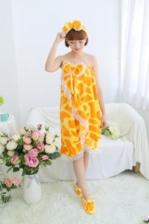 Giraffe Style Bathrobe Women Robes