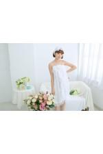 Noble White Bathrobe Women Robes