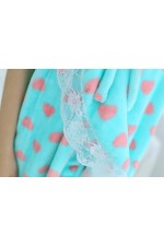 Blue Love Bathrobe Women Robes