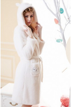 White Sheep Kigurumi Bathrobe Animal Robes
