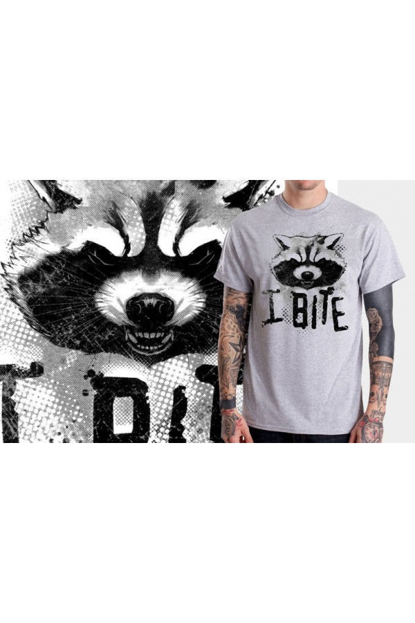 rocket raccoon style guardians of the galaxy character t